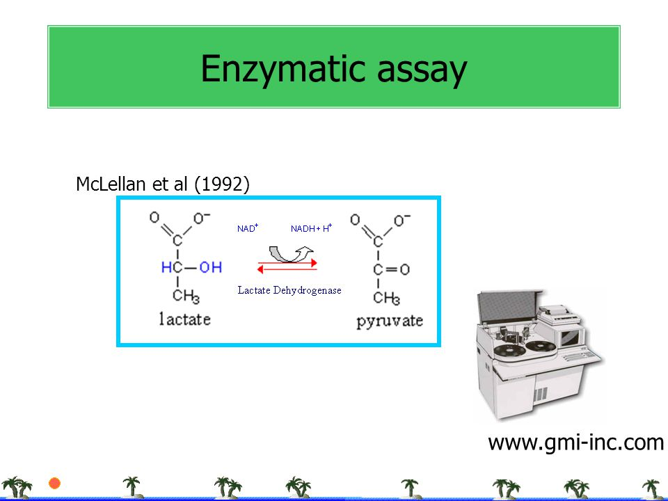 Enzymatic assay McLellan et al (1992) www.gmi-inc.com