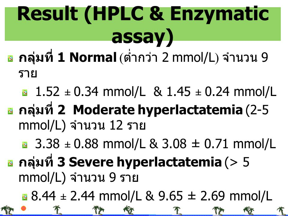 Result (HPLC & Enzymatic assay)