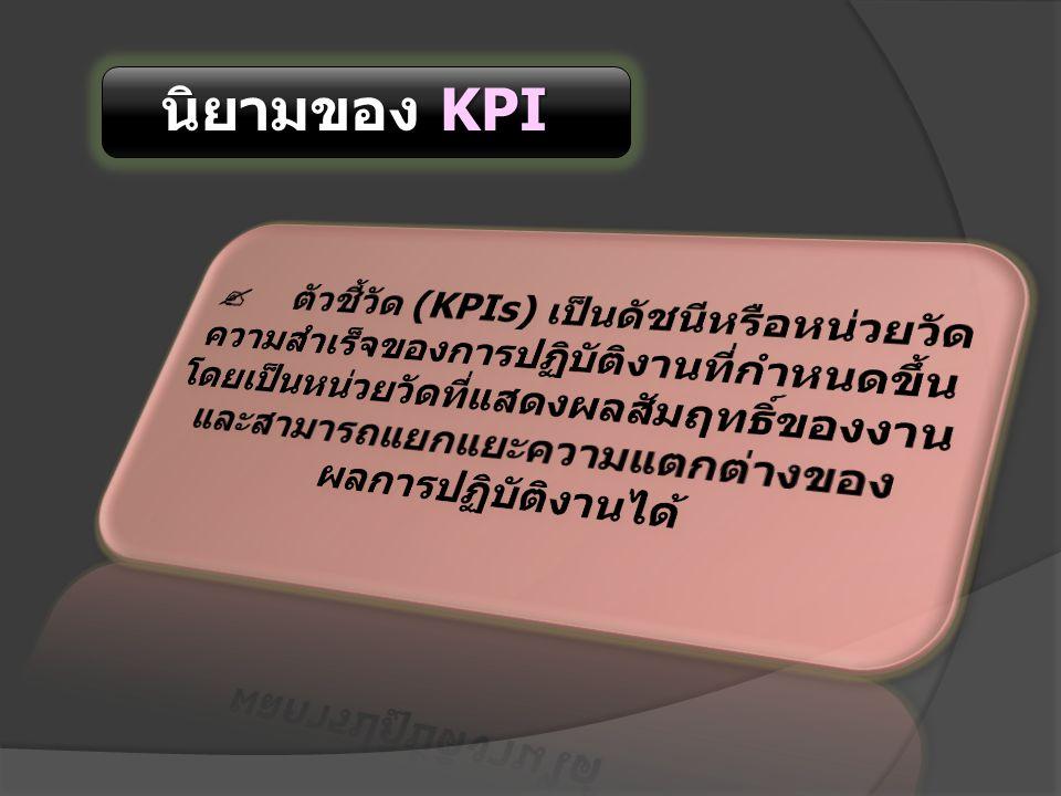 นิยามของ KPI