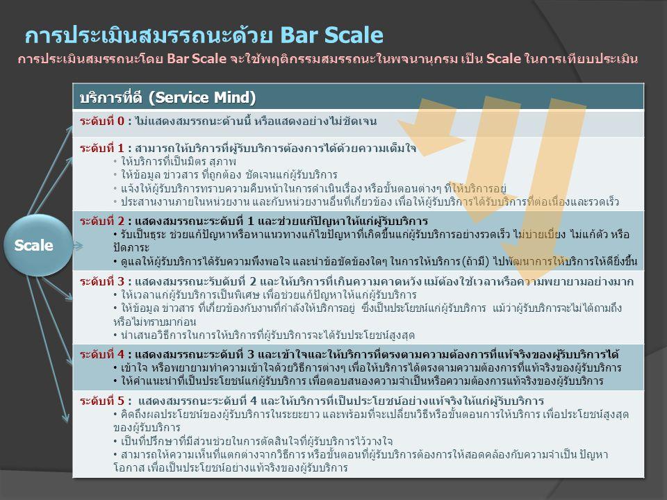 การประเมินสมรรถนะด้วย Bar Scale