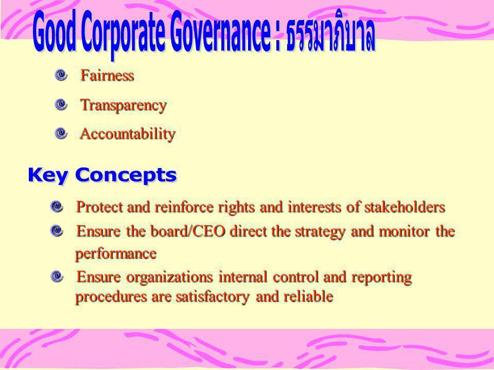 Good Corporate Governance : ธรรมาภิบาล
