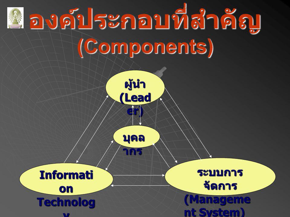 องค์ประกอบที่สำคัญ (Components)