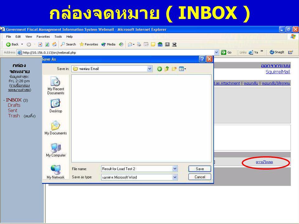 กล่องจดหมาย ( INBOX )