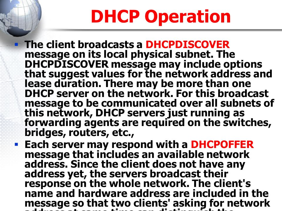 DHCP Operation