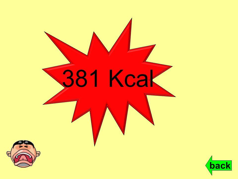 381 Kcal back