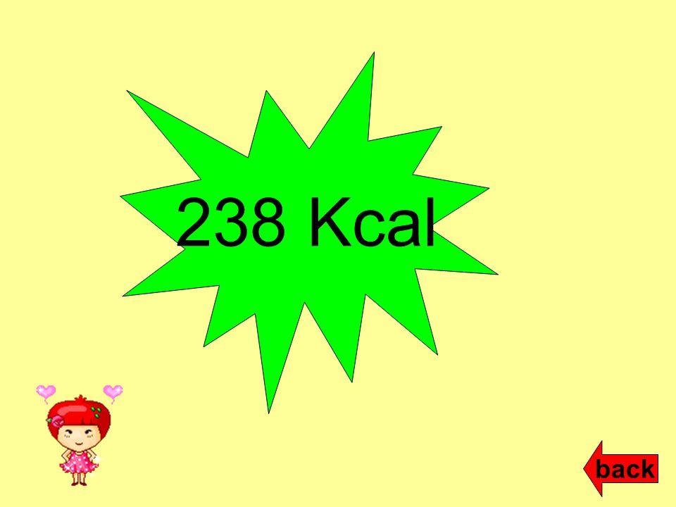 238 Kcal back
