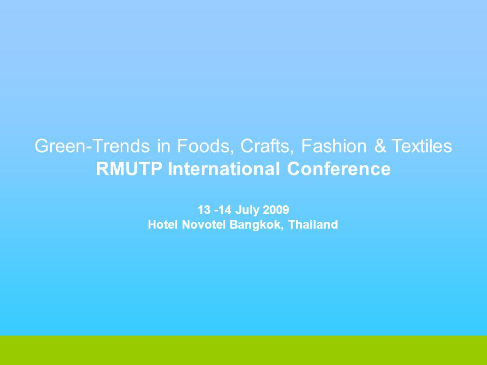 RMUTP International Conference Hotel Novotel Bangkok, Thailand