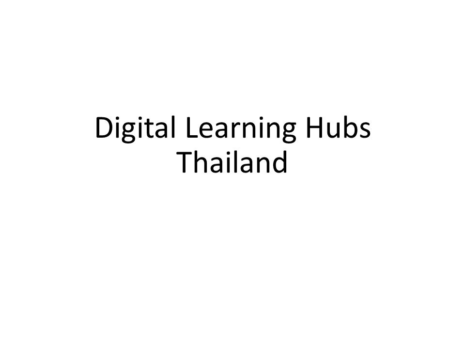 Digital Learning Hubs Thailand