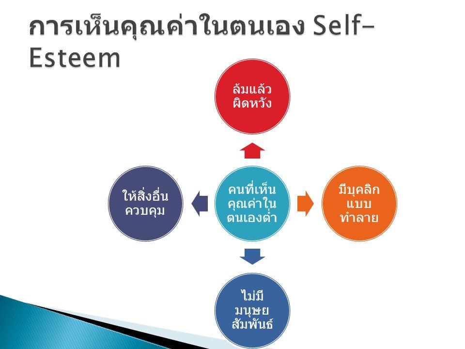 การเห็นคุณค่าในตนเอง Self-Esteem