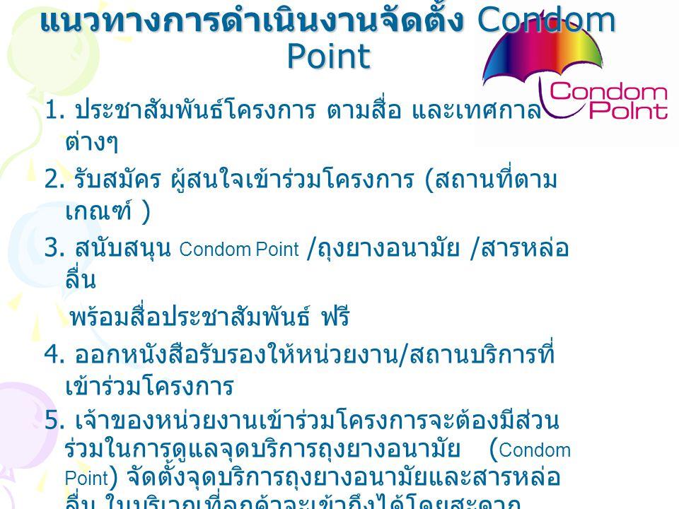 แนวทางการดำเนินงานจัดตั้ง Condom Point