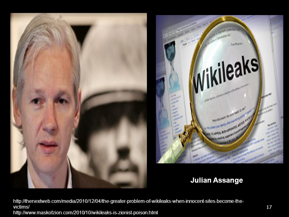 Julian Assange http://thenextweb.com/media/2010/12/04/the-greater-problem-of-wikileaks-when-innocent-sites-become-the-victims/