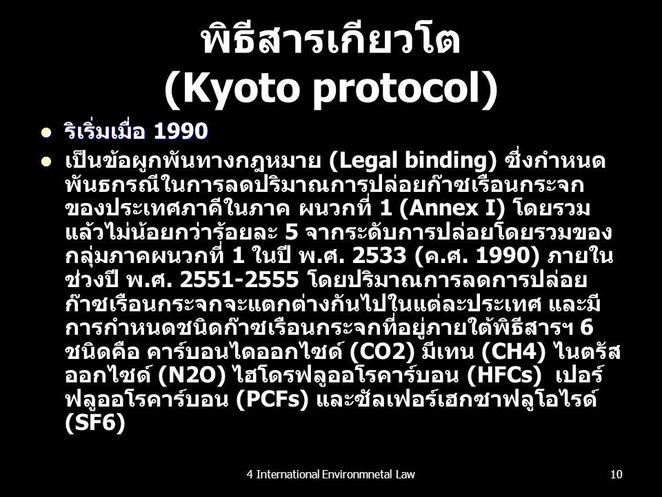 พิธีสารเกียวโต (Kyoto protocol)