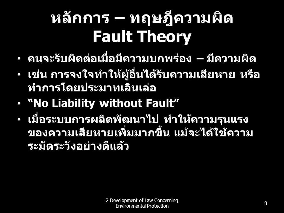 หลักการ – ทฤษฎีความผิด Fault Theory