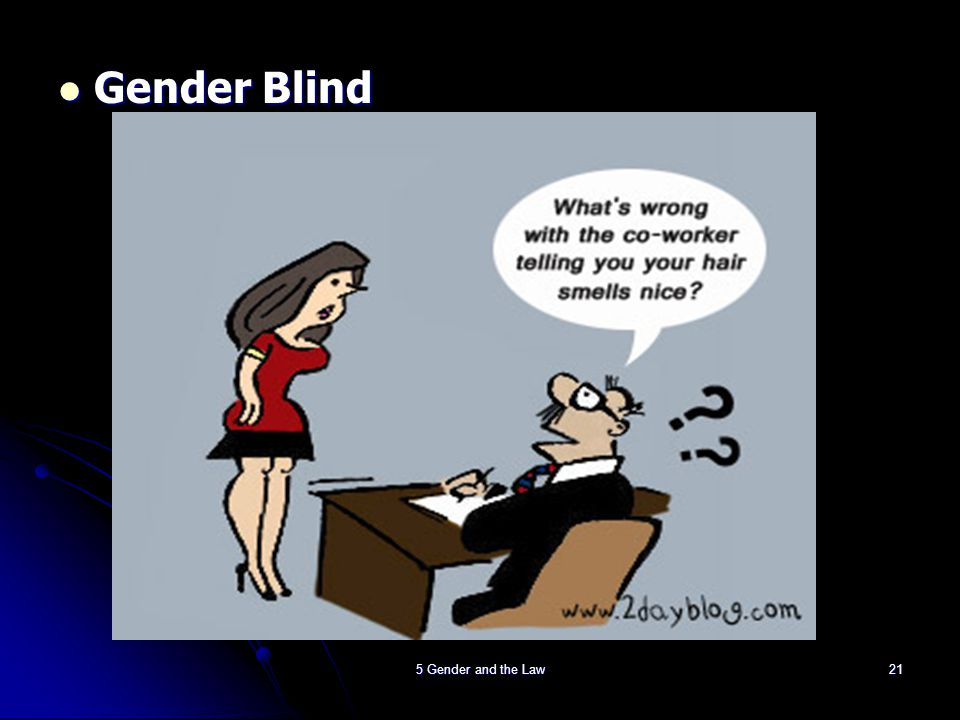 Gender Blind 5 Gender and the Law