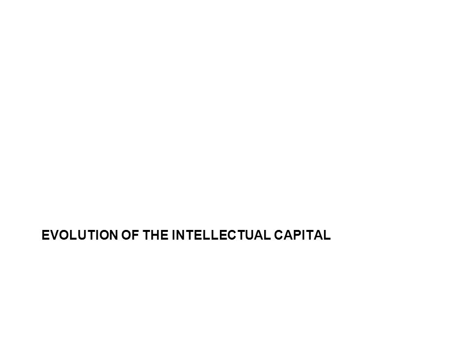 EVOLUTION OF THE INTELLECTUAL CAPITAL