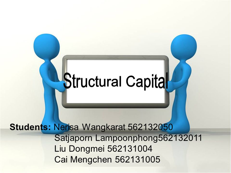 Structural Capital Students: Nerisa Wangkarat 562132050