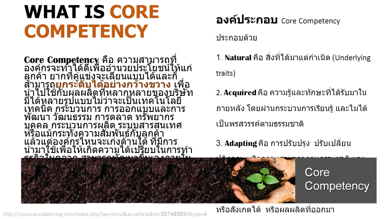 WHAT IS CORE COMPETENCY