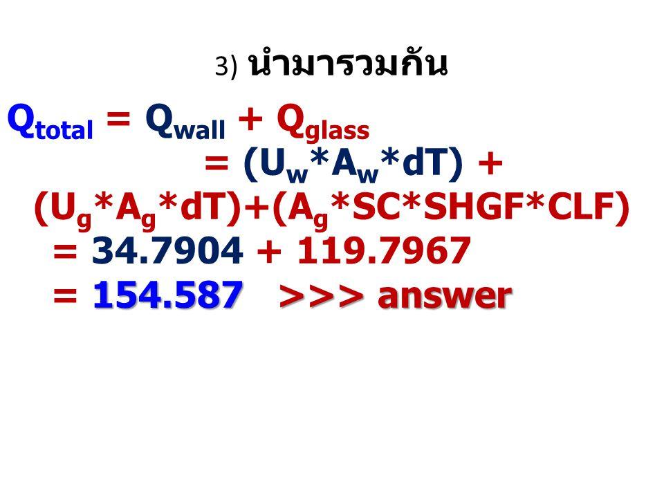 = (Uw*Aw*dT) + (Ug*Ag*dT)+(Ag*SC*SHGF*CLF)