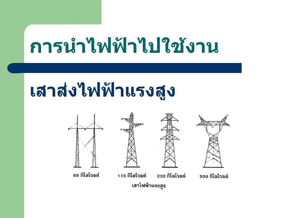 การนำไฟฟ้าไปใช้งาน เสาส่งไฟฟ้าแรงสูง