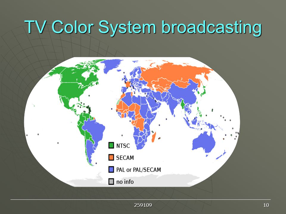 TV Color System broadcasting