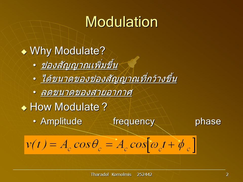Modulation Why Modulate How Modulate ช่องสัญญาณเพิ่มขึ้น