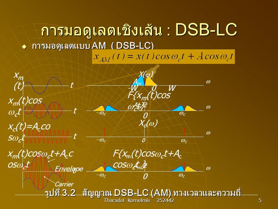 การมอดูเลตเชิงเส้น : DSB-LC