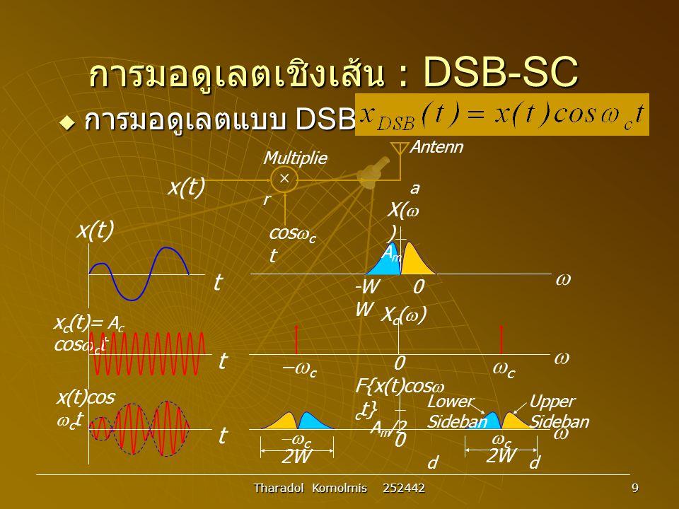 การมอดูเลตเชิงเส้น : DSB-SC