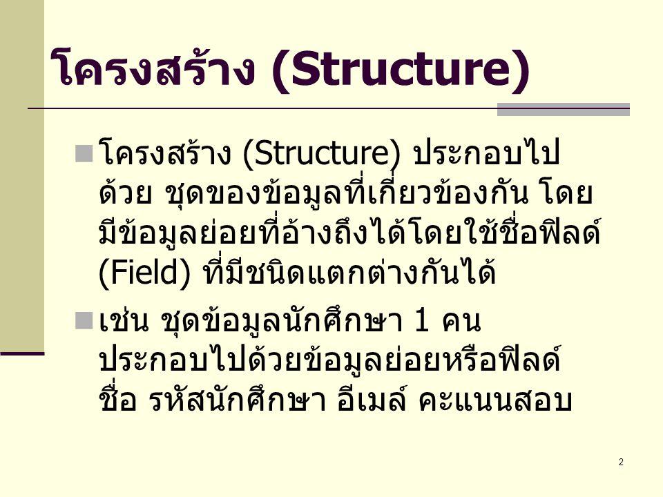 โครงสร้าง (Structure)