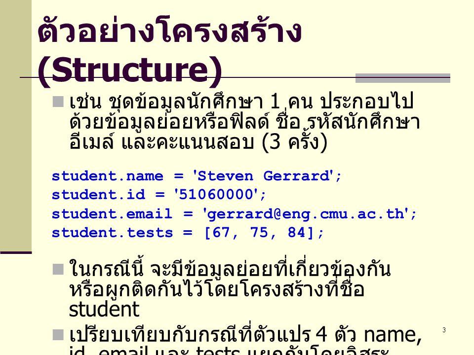 ตัวอย่างโครงสร้าง (Structure)