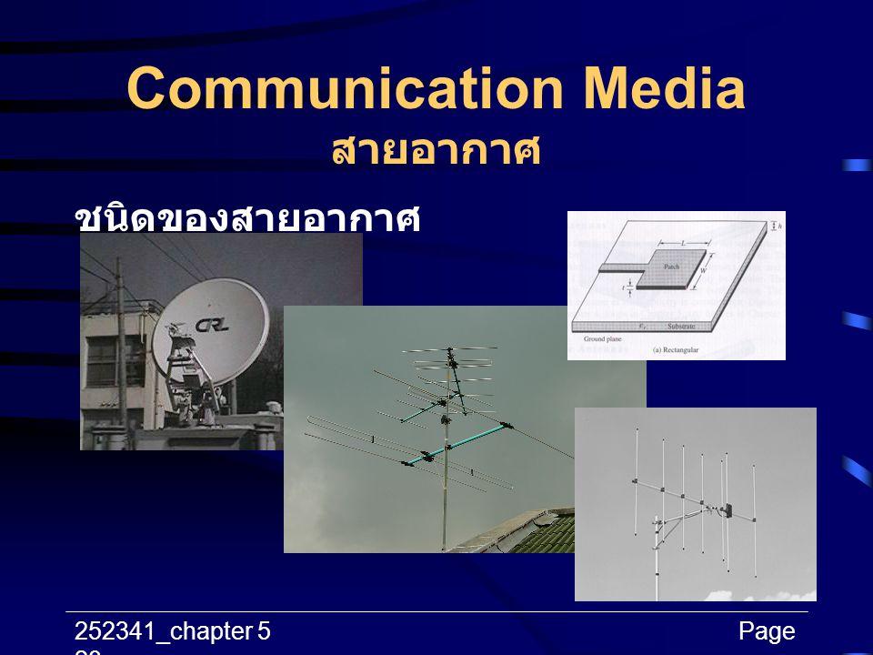 Communication Media สายอากาศ