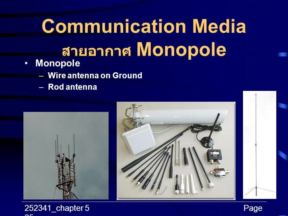 Communication Media สายอากาศ Monopole