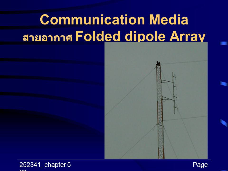 Communication Media สายอากาศ Folded dipole Array