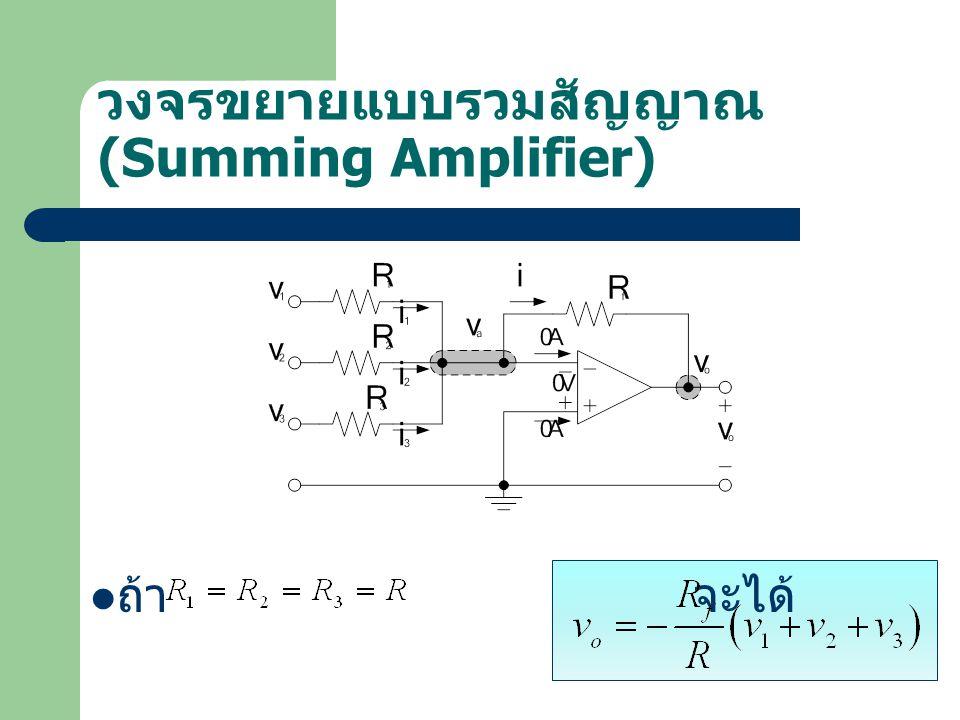 วงจรขยายแบบรวมสัญญาณ (Summing Amplifier)