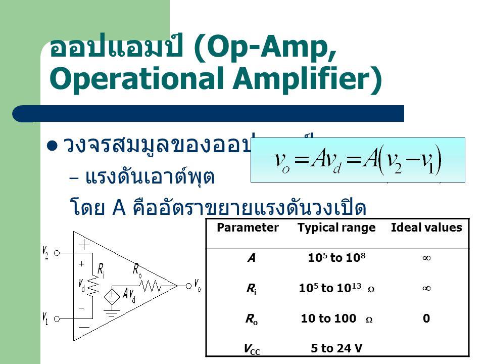 ออปแอมป์ (Op-Amp, Operational Amplifier)