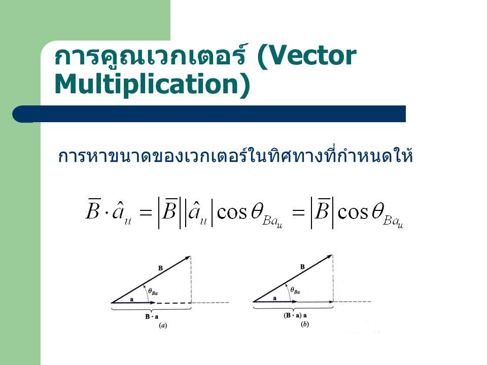 การคูณเวกเตอร์ (Vector Multiplication)