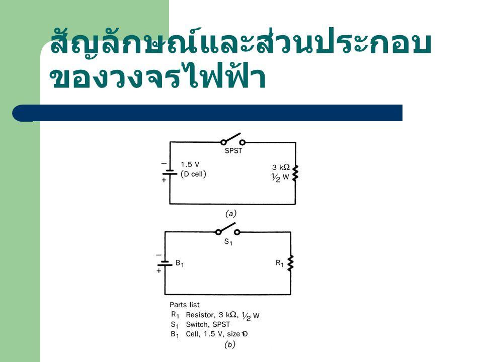 สัญลักษณ์และส่วนประกอบของวงจรไฟฟ้า