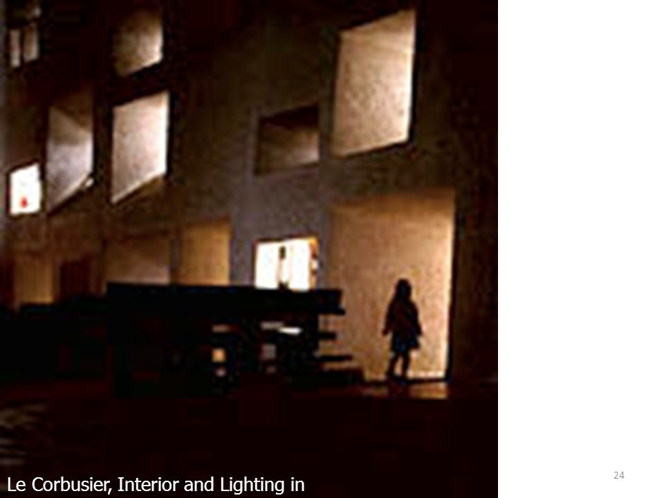 Le Corbusier, Interior and Lighting in Ronchamp, France
