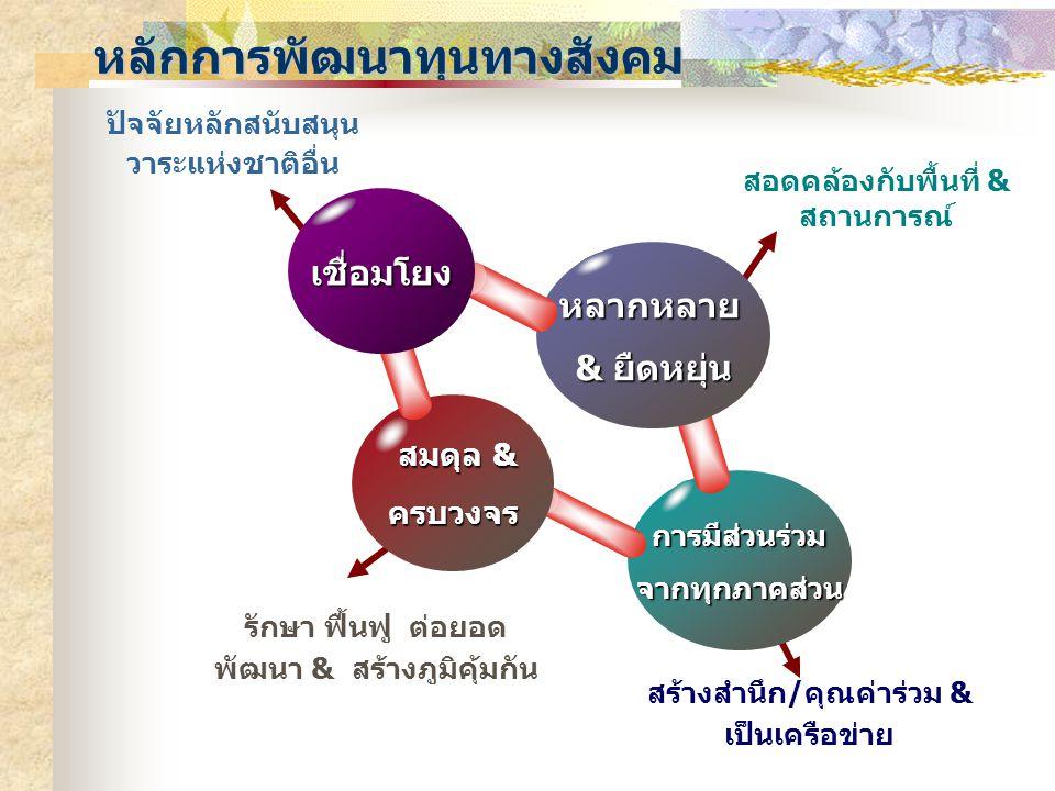 หลักการพัฒนาทุนทางสังคม