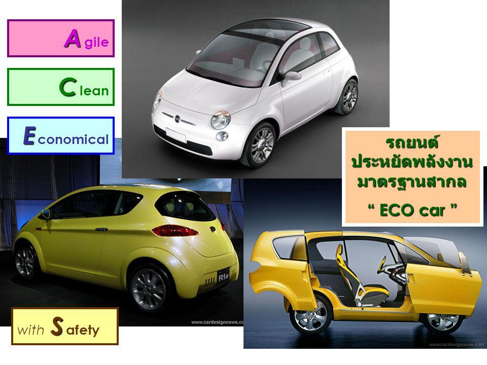 รถยนต์ ประหยัดพลังงานมาตรฐานสากล