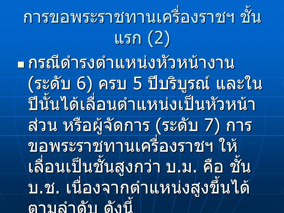 การขอพระราชทานเครื่องราชฯ ชั้นแรก (2)