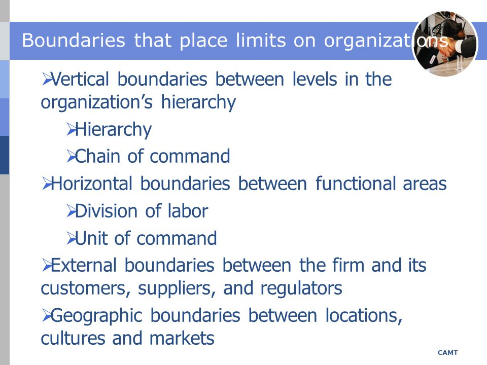 Boundaries that place limits on organizations