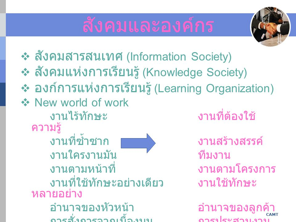 สังคมและองค์กร สังคมสารสนเทศ (Information Society)