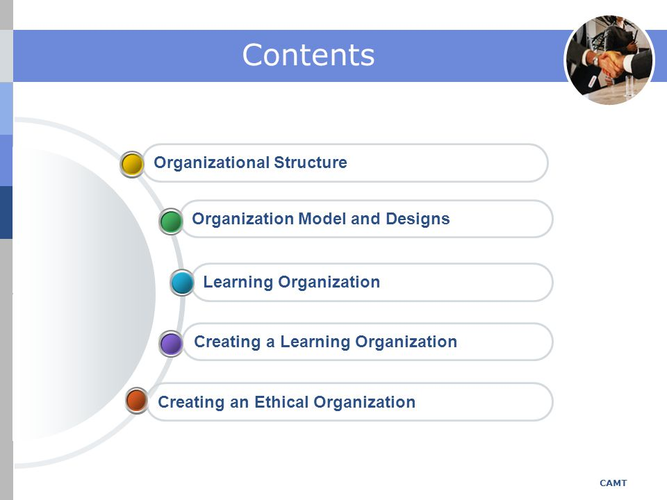 Contents Organizational Structure Organization Model and Designs