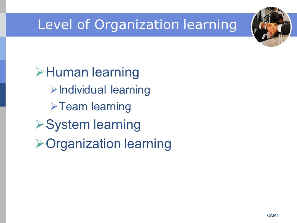 Level of Organization learning