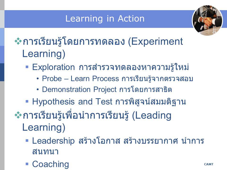 การเรียนรู้โดยการทดลอง (Experiment Learning)