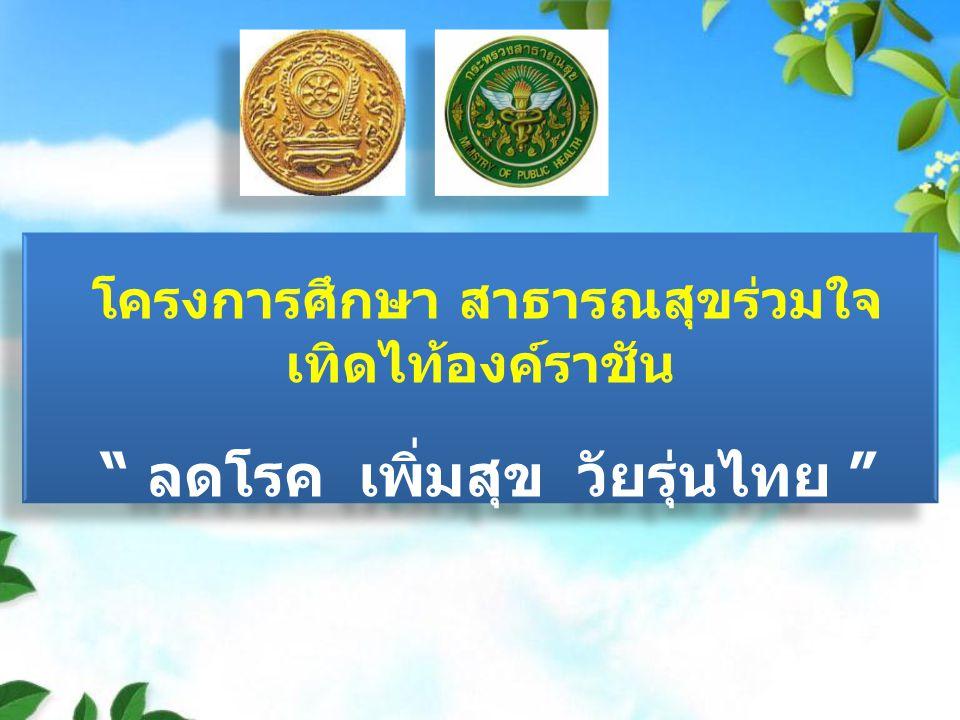ลดโรค เพิ่มสุข วัยรุ่นไทย
