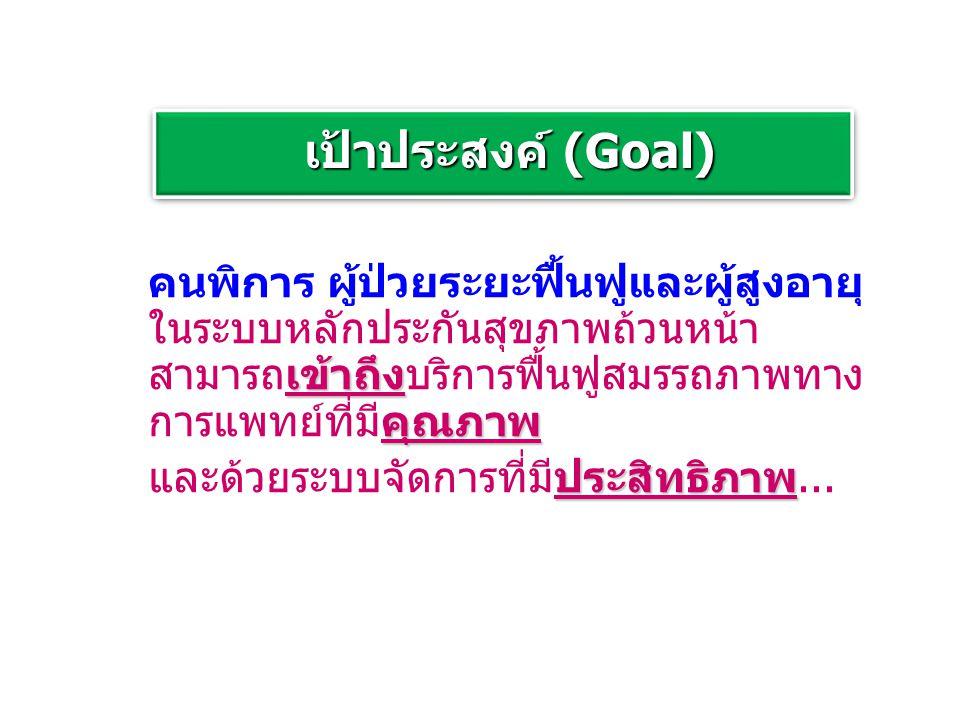 เป้าประสงค์ (Goal)