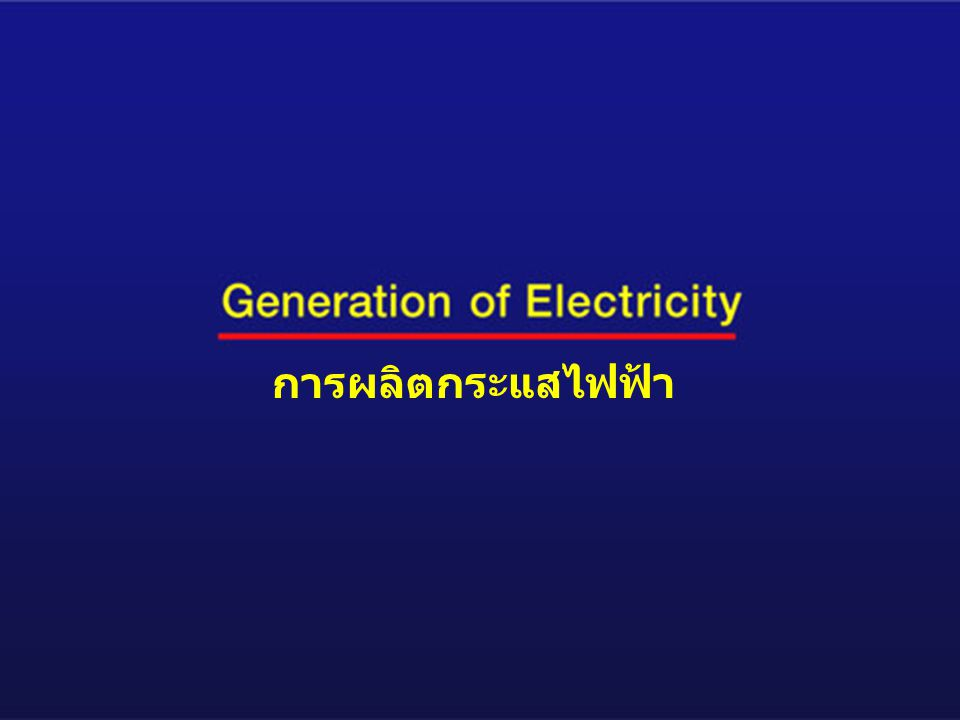 การผลิตกระแสไฟฟ้า