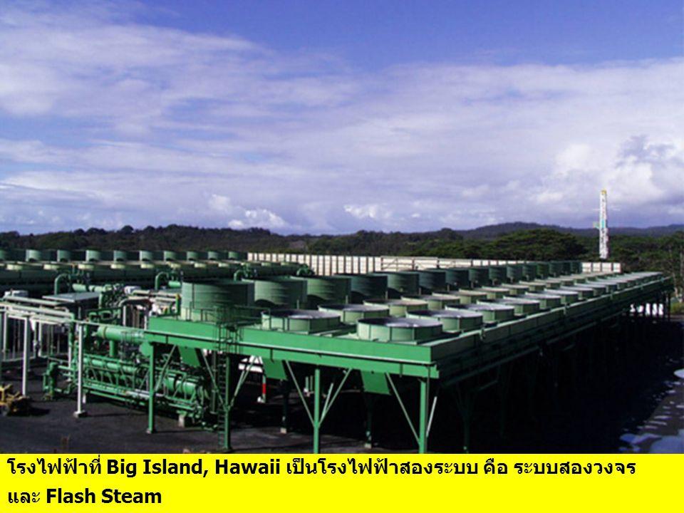 โรงไฟฟ้าที่ Big Island, Hawaii เป็นโรงไฟฟ้าสองระบบ คือ ระบบสองวงจร