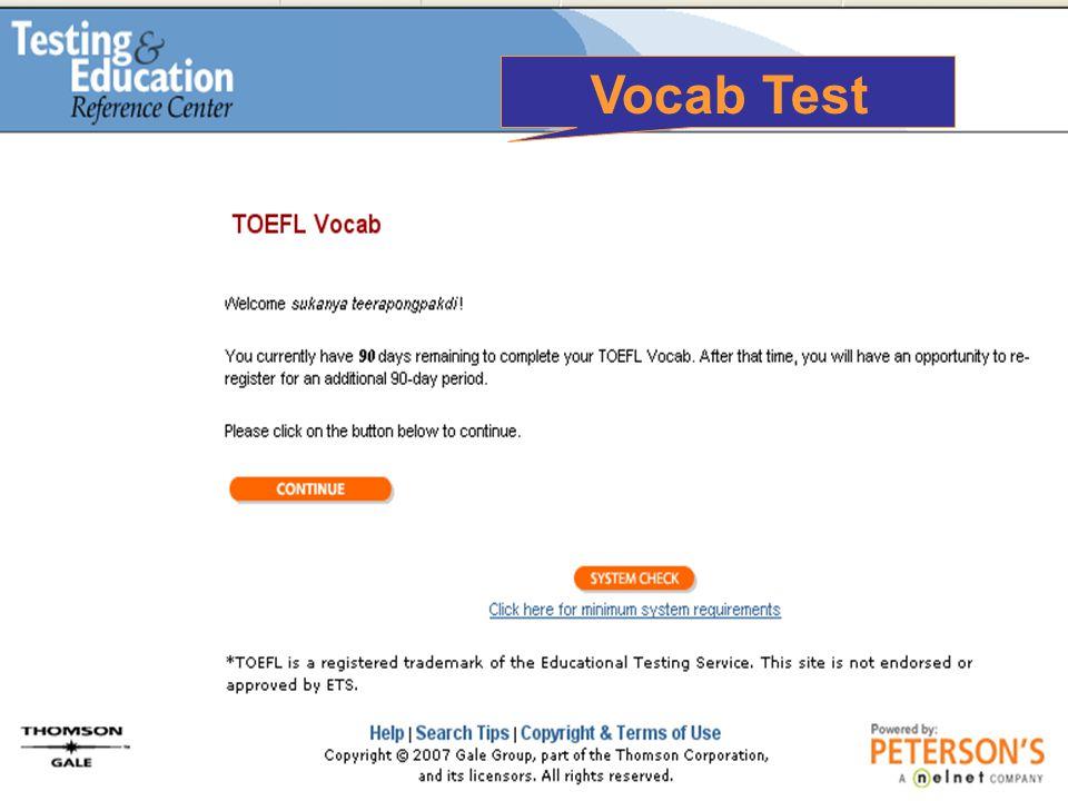 Vocab Test